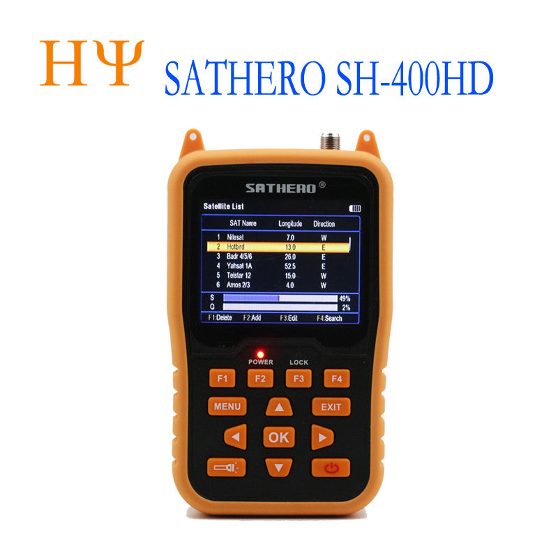 Sathero SH-400HD 3.5 Inch LCD Screen DVB-S2 Satellite  Finder Sathero 400HD Better Than Satlink Ws-6916 Ws-6933 Ws-6960 V8 Finde