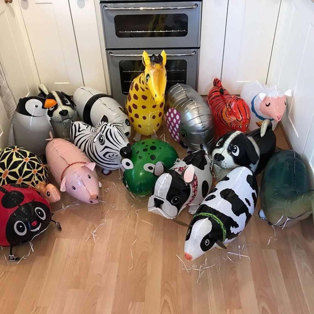 Miscele di Animale Che Cammina Palloncini AD ELIO Sveglio Del Cane Del Gatto Panda Dinosauro Tigre pet aria Palloncini di compleanno decorazioni festa per bambini e adulti