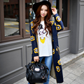 Dabuwawa темно-синий печатных вязание пиджаки
