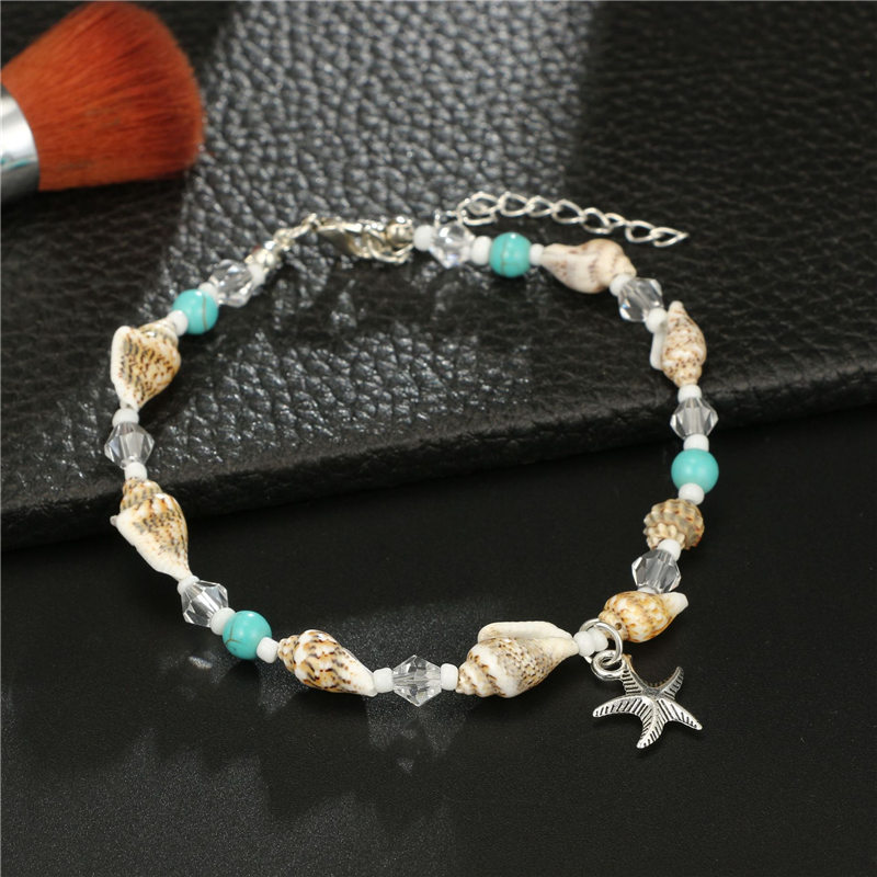 Charm Sea Starfish Alloy Anklets Bracelets Boho Multi Color Conch Leg Bracelets Anklet For Female Wedding Gifts Jewelry in Anklets from Jewelry Accessories