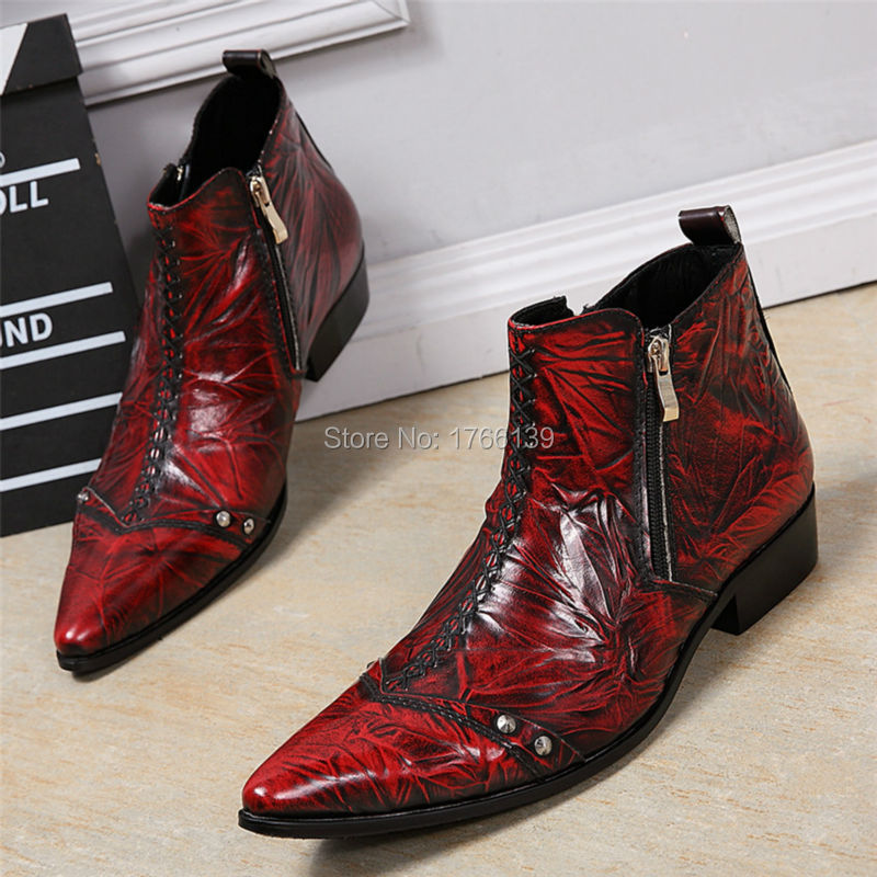 Online Get Cheap Mens Red Cowboy Boots -Aliexpress.com | Alibaba Group