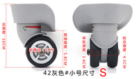 Trolley Case Parts Aircraft Caster Wheels Travel Luggage Accessories Suitcase Replacement Luggage Spinner Wheels 42GS