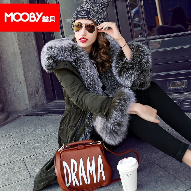 2015 new Hot winter Thicken Warm Woman Down jacket Coat Parkas Outerwear Hooded fox Fur collar Slim Luxury long plus size XXL 2015 new hot winter thicken warm woman down jacket coat parkas outerwear hooded fox fur collar luxury long plus size 2xxl goose