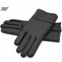 2017Women's Handschuhe Echtes Leder Lammfell Winter Handschuhe Heißer Stilvolle Warme Vollfinger Damen Handschuhe Echte Leder