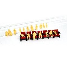 HO N OO escala Z Todos sentados pele colorido Modelo de Escala Figura Figura Modelo para o Modelo de Layout de Trem de Passageiros