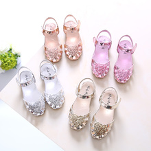 2018 New Girls Glitter Gladiator Sandals, Kids Summer Heart Solid Shoes Pink, Gold, Silver , size 21-36, for children 12M-14Y,