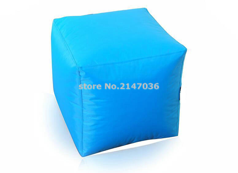Aqua blue Top grade new coming safe modern storage ottoman, square shape footrest stool