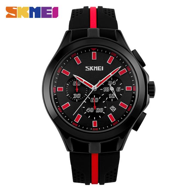 Skmei 9135 relógio dos homens do esporte ao ar livre de pulso digital silicone strap parar relógio militar 30 m à prova d' água relogio masculino