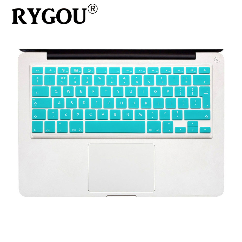EU Layout English Keyboard Cover Silicone Skin For MacBook Pro 13