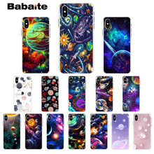 Babaite Cosmic space planet Transparent TPU Soft Silicone Phone Cover for Apple iPhone 8 7 6 6S Plus X XS MAX 5 5S SE XR Cover babaite cartoon air plane soft silicone transparent phone case for apple iphone 8 7 6 6s plus x xs max 5 5s se xr cover
