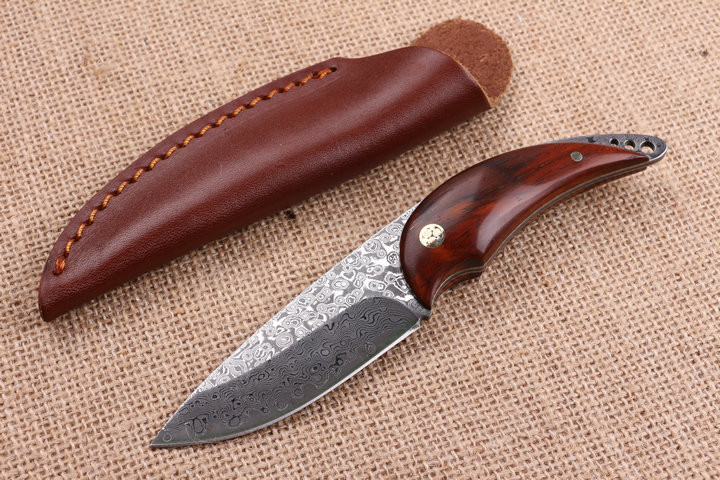 Very sharp High-grade Damascus knife Basic Damascus steel knife outdoor boutique gift collection straight knife cutting tools new browning damascus steel knife outdoor mini damascus pocket knife