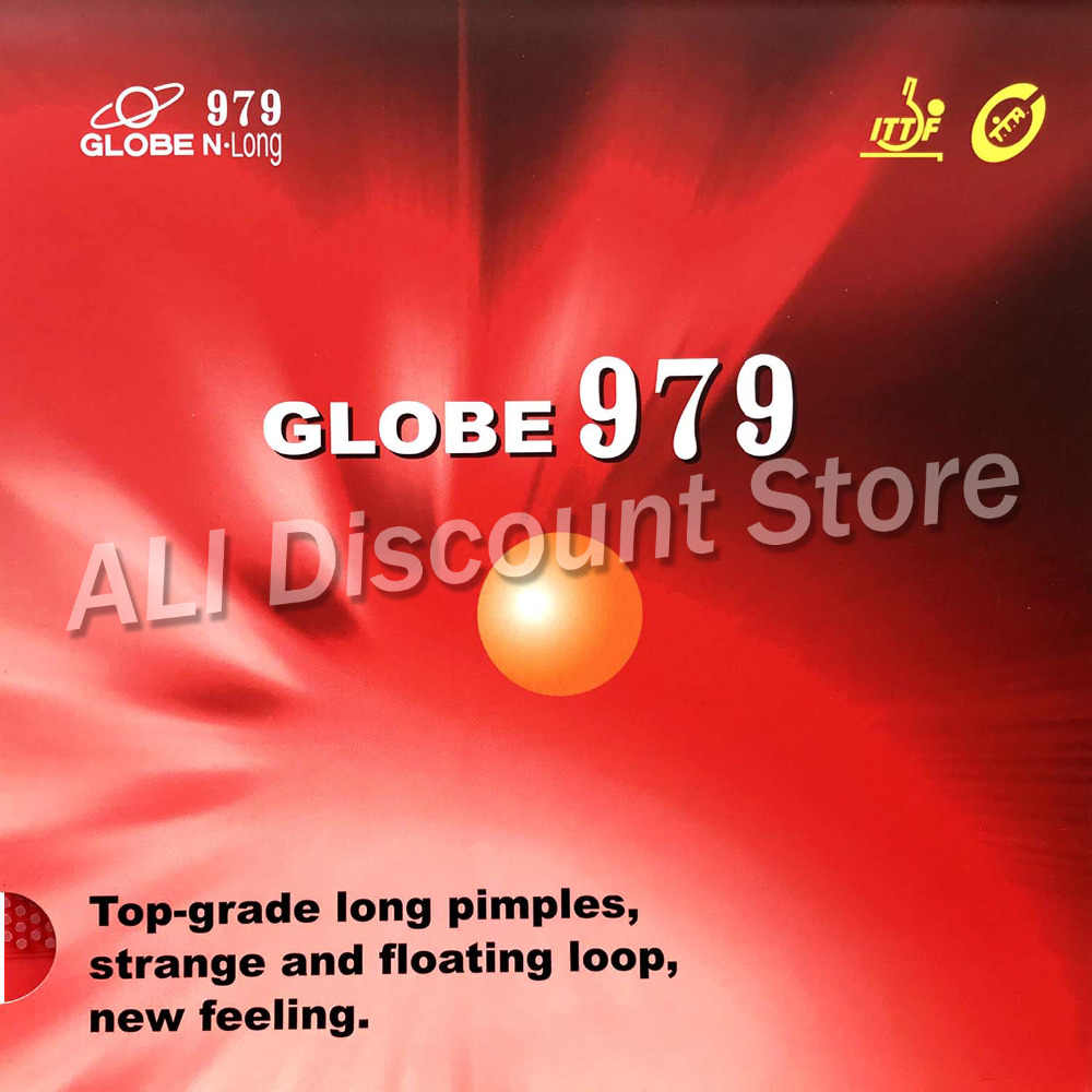 Globe 979 Chop + Attack Long Pips-Out Table Tennis PingPong Rubber With Sponge