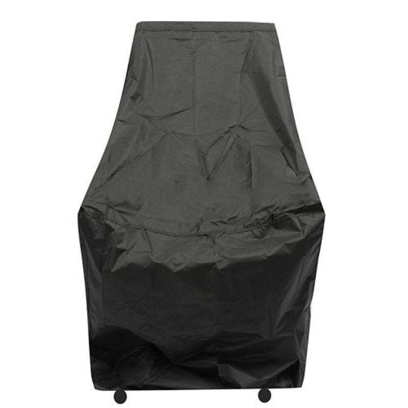 1pcs Mayitr Polyester Waterproof Chair Cover Dust Rain Cover Outdoor Garden Furniture Patio Protection Cover Black