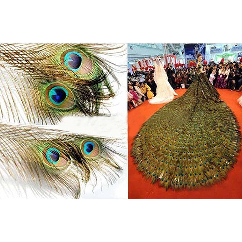 Popular peacock feather crafts buy cheap peacock feather for Where can i buy feathers for crafts