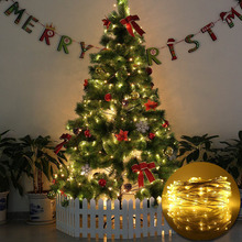 New Year 2M 5M 10M 20M Silver Copper Wire Fairy Light Garland USB LED String Lights Home Christmas Wedding Party Xmas Decoration