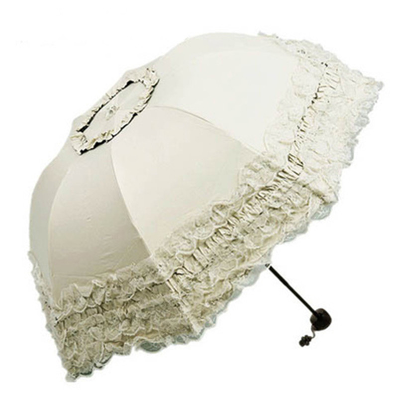 UV Protected Parasol Sunny and Rainy Umbrella Rain Women Girls ...