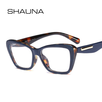 SHAUNA Retro Cat Eye Eyeglasses