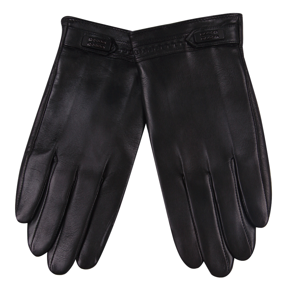 Мужские перчатки с сенсорным экраном, сохраняющие тепло зимние кожаные перчатки, теплые тонкие бархатные ветрозащитные водонепроницаемые