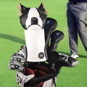 Image 2 - Cubierta de cabeza de Animal para Conductor de Golf Craftsman, cubierta para Conductor de Golf con perro salchicha/Bulldog/perezoso de 460cc, cubierta de madera para palos, cubierta de cuero de PU