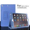 Para ipad air mate superficie litchi cubierta de cuero artificial con auto sleep/wake up para apple ipad 5 tirón magnético caso