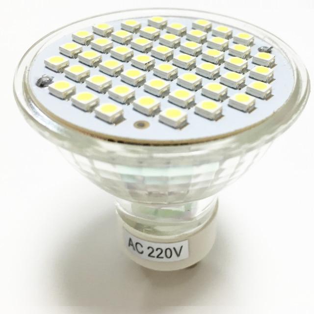 nieuwe led spotlight gu10 lamp 3 w ac 220 v 110 v hittebestendig glas body 3528