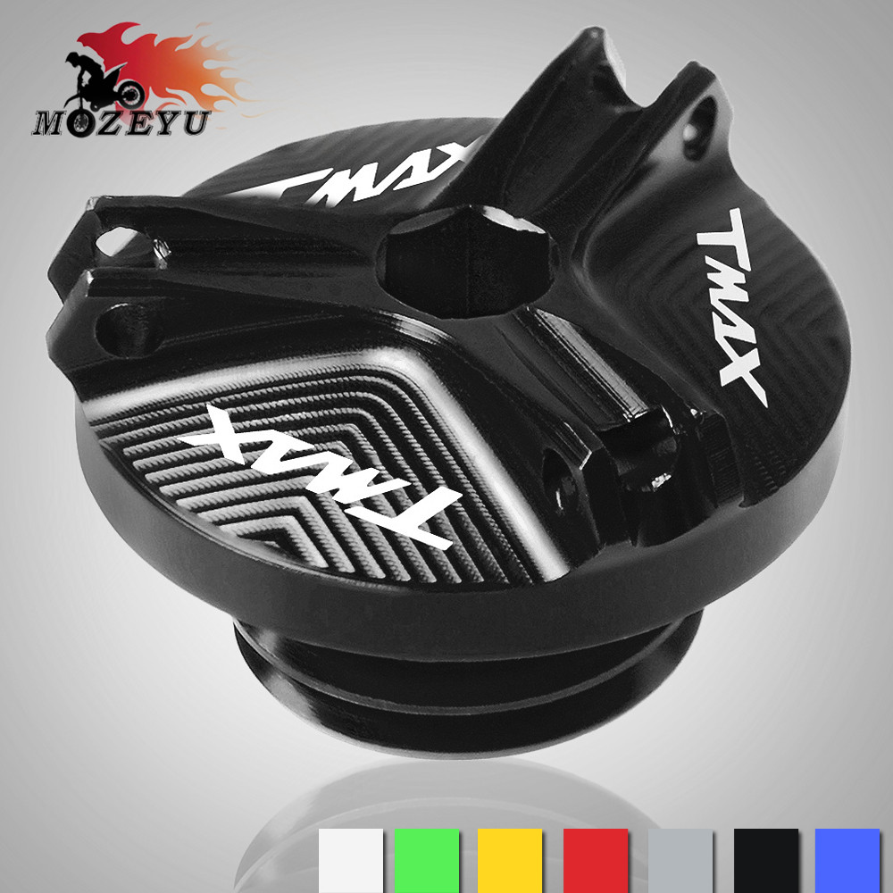 For YAMAHA TMAX530/500 2008-2016 2017 <font><b>T</b></font>-<font><b>MAX</b></font> 500 TMAX <font><b>T</b></font>-<font><b>MAX</b></font> <font><b>530</b></font> SX DX 2017 <font><b>2018</b></font> Motorcycle CNC Engine Oil Cap Bolt Screw cover image