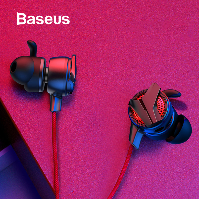 Baseus Gaming Kopfhörer Für Pubg Controller GAMO-15 3D Stereo kopfhörer Für Mobile pubg Gamer mit Abnehmbare HD Mic