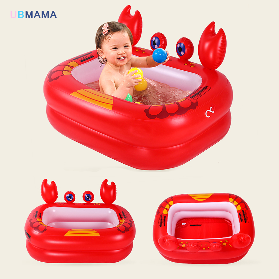 Red Crab Yellow Duck With Thickened Material For Baby Baby Inflated Bathtub Children's Pool