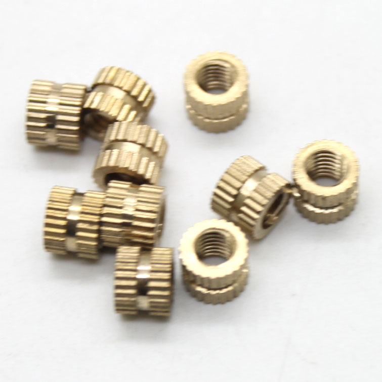 100pcs M3*3/4/5/6/8/10-4mm Injection nut copper insert knurled nut copper knurling tool m2 copper flower mother nut double injection through knurled insert m3x8m3x15