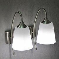 Prosty i stylowy i nowoczesny korytarz dwie lampy lampki nocne nawy kinkiet lustro przednie światła lampy sypialni den wysyłka