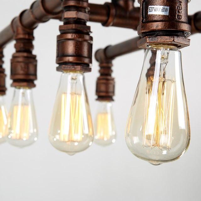 Tienda Online Gran industrial Lámparas colgantes hierro forjado tubo ...