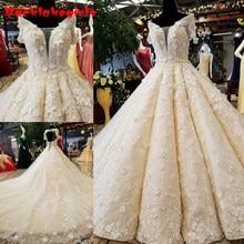 01569 Heavy Beaded Crystals Real Beautiful V Neck Reception Luxury Wedding  Dress a22340091d78