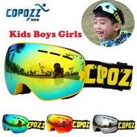COPOZZ Kids Ski Goggles Double UV400 Anti Fog Mask Glasses Skiing Girls Boys Snowboard Goggles Brand