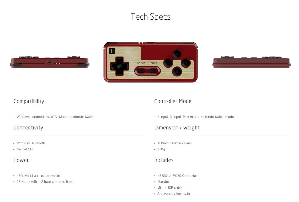 Free shipping 8BITDO FC30 Bluetooth Wireless Controller Support Switch Android MacOS font b Gamepad b font