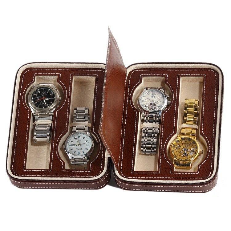 Aliexpress.com : Buy 4 Slots PU Leather Watch Storage Bag ...