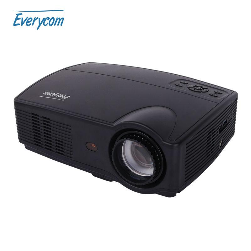 Prix pour Everycom X9 LED HD Projecteur 3500 Lumens Beamer 1280*800 Projecteur LCD TV Full HD Vidéo Home Cinéma Multimédia HDMI/VGA/AV/ATV