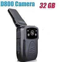 Blueskysea D800 32G DVR HD 1080P Cam Portable IR Night Vision Police Camera Person Body Camera Camcorder Voice Recorder