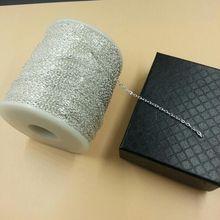 Panjang 100 M Lebar 2mm Grosir Rantai DIY Aksesoris Antiqued Perak Chains untuk Membuat Kalung Gelang Manik-manik Buatan Tangan L011