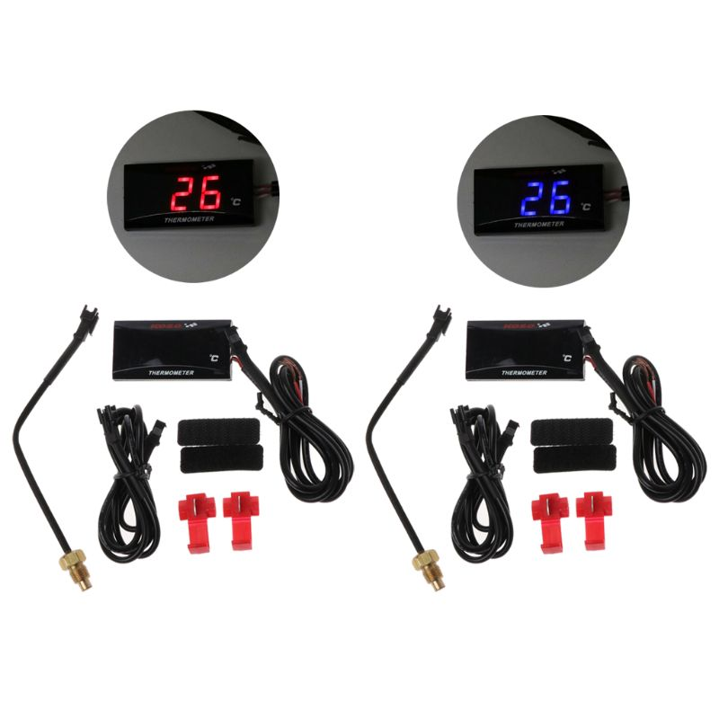 Universal Motorrad LCD Digital Thermometer Instrument Wasser Temp Meter Gauge Für Yamaha Racing Roller