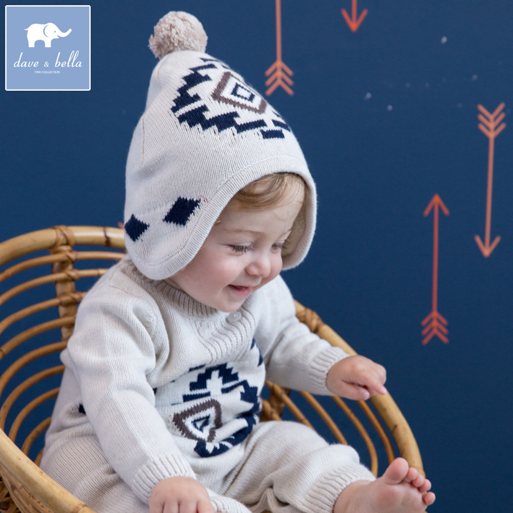 f10eae0ede61 Brand Cotton Wool long sleeve baby girl boy romper hat bonnet ...