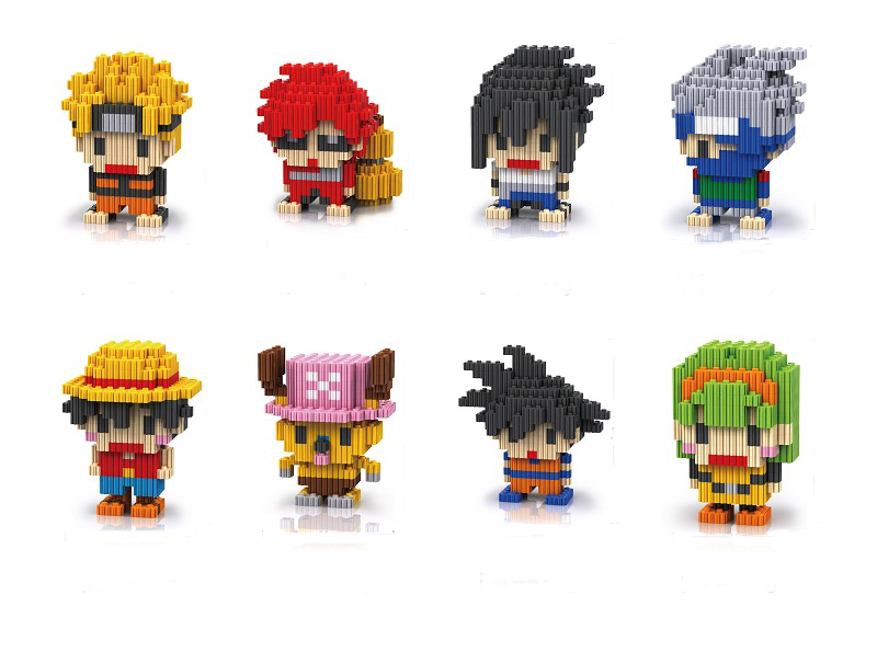 New Arrival Cool Japanese Anime Naruto One Piece Series Building Block Toys Childrens Educational Free Shipping In Blocks From Hobbies On