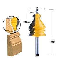 cnc חותך 5PC 8mm Shank מארז & Base נתב דפוס Bit Set CNC Line סכין נגרות חותך שֶׁגֶם קאטר כלים לעיבוד עץ (5)