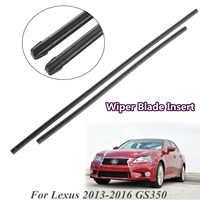 FOR LEXUS 2013 2016 GS350 Car FRONT WIPER RUBBER BLADE INSERTS SET LEFT RIHGT SIDE 597mm