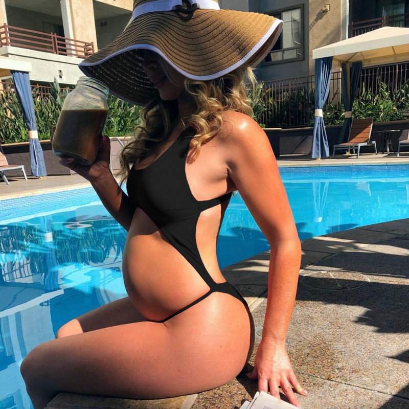 2018 Maternity Swimwear Women Plus Size One-pieces Bikini Beach Sexy Pregnancy Swimwear For Bathing Pregnant Bodysuit Beachwear