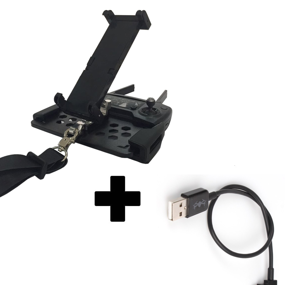 DJI Mavic Pro Accessories Tablet Phone Mount Holder with USB Cable for Iphone 8 / 7/ 7 Plus / 6Plus / 6 and Ipad esk iphone7 plus 6plus 6с плюс фильм артефакт для mac 7 plus 6plus 6с plus 5 5 yingcun jm176 повезло красный