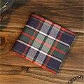Buena calidad de los hombres y las mujeres carteras cortos de lona monederos Nuevo Diseño corto carteira monedero Monedero D1048-1