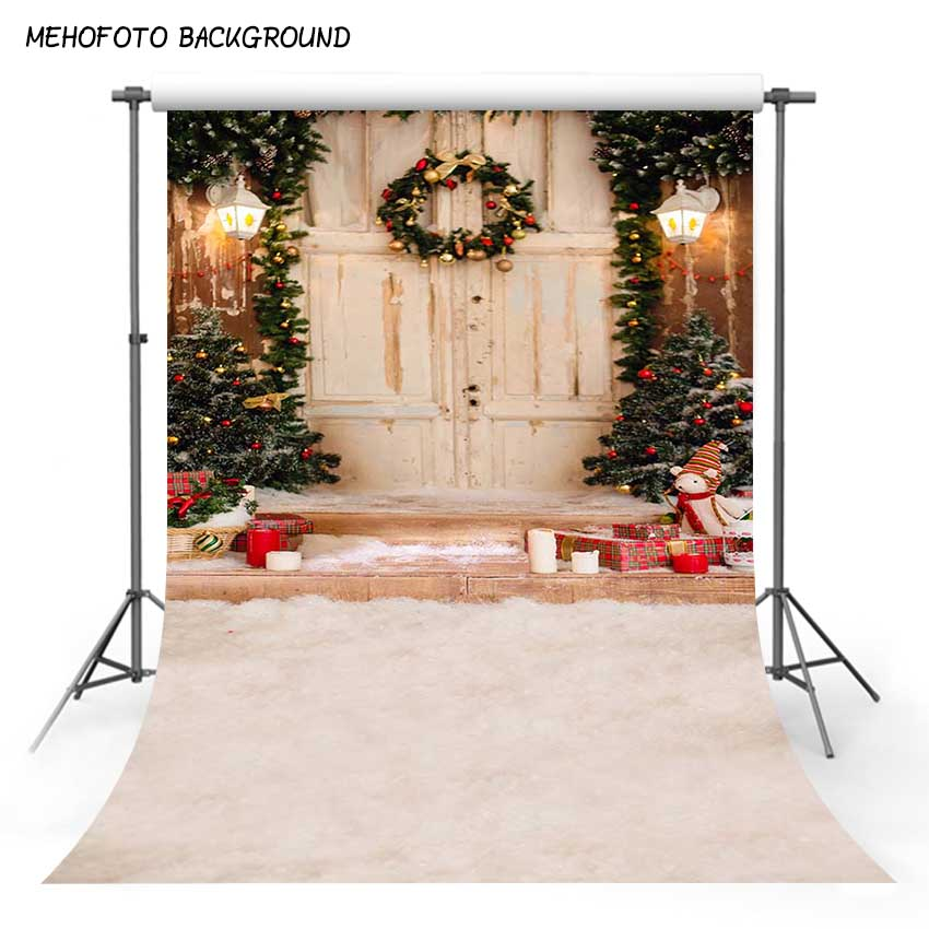 цены 5x7ft Thin Vinyl Children Christmas Photography Background Baby Snow Photo Backdrops for Photo Studio Pictures