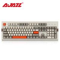 Ajazz AK510 104 Keys Mechanical Keyboard Retro Gaming Keyboard RGB Backlight Wired Keyboard Two color PBT Ball Key Cap Ergonomic