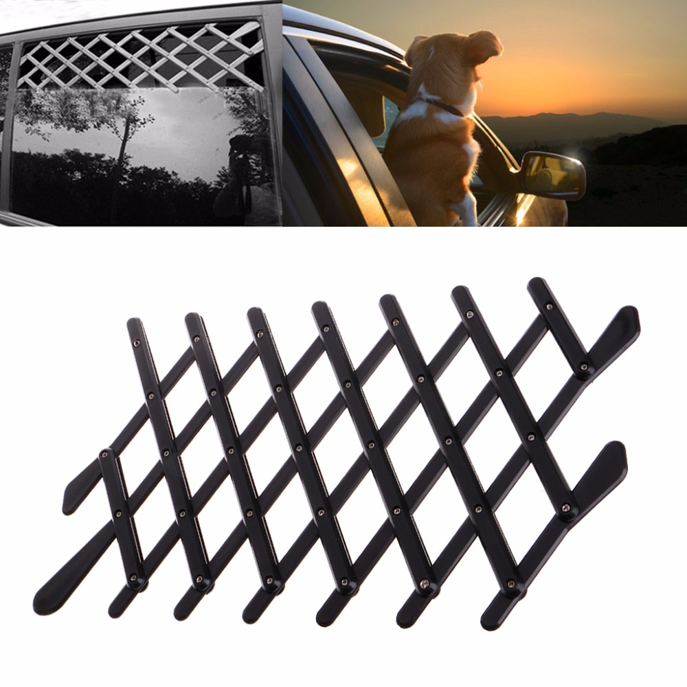 Universal Car Window Vent Pet Dog Cat Car Ventilation Safe Guard Mesh Vent Protective Fence Outdoor New C42