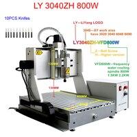 300*400mm çalışma alanı cnc router makine LY 3040ZH 800 w su soğutma mili cnc freze makinesi RU için ücretsiz vergi